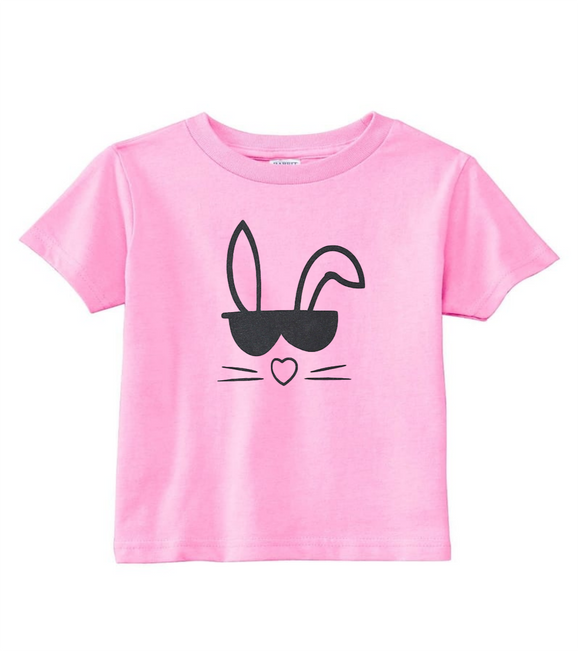 Custom Toddler Shirt - Cool Bunny (you choose design colour)-Shirts-[Calgary]-[Alberta]-[Canada]-[Affordable Children's Clothing]-Stinky Bunny