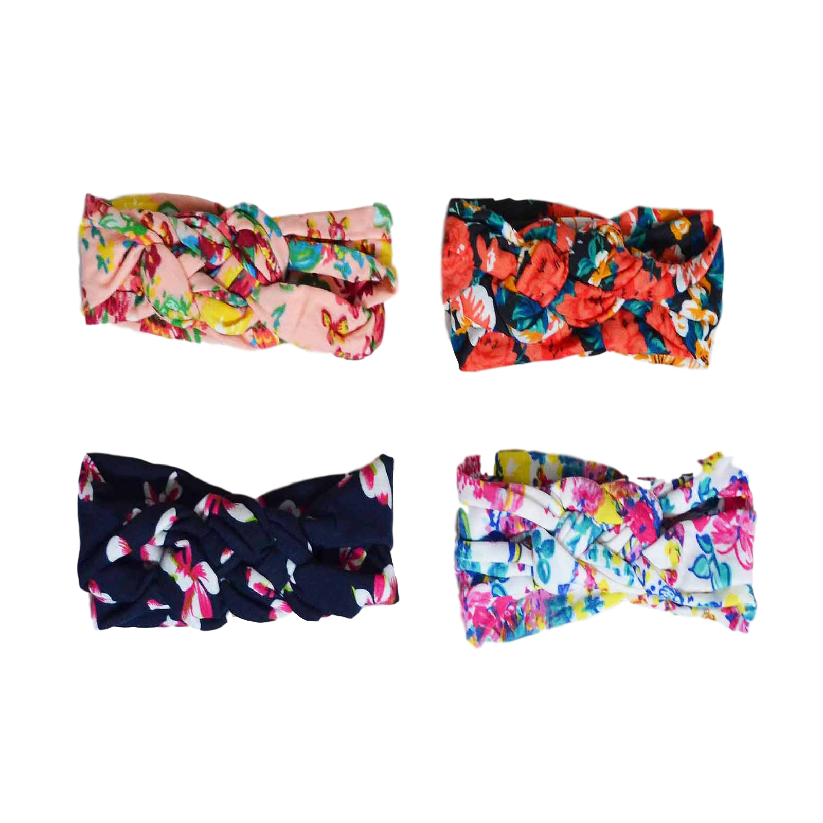 Twisted Floral Turban Headbands Headbands | Stinky Bunny fashion headbands for toddlers, affordable infant headbands, cute kids headbands