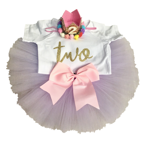 Two Cute Birthday Outfits-Handmade Tutus-[Calgary]-[Alberta]-[Canada]-[Affordable Children's Clothing]-Stinky Bunny