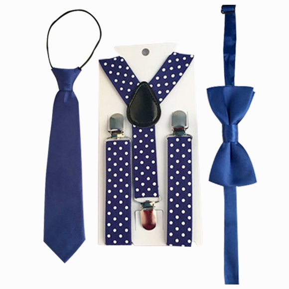 Party Time - Set of 3 - Blue & White
