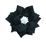 Satin Flower Hair Clips (6 Colours Available)