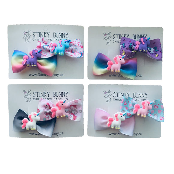 Unicorn 2-Pack-Hair Clips-[Calgary]-[Alberta]-[Canada]-[Affordable Children's Clothing]-Stinky Bunny