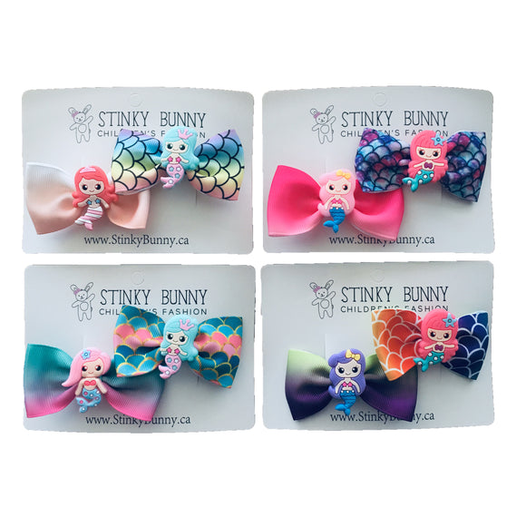 Mermaid 2-Pack-Hair Clips-[Calgary]-[Alberta]-[Canada]-[Affordable Children's Clothing]-Stinky Bunny