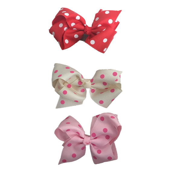 Bowtastics Clips - Polka Dots Hair Clips | Stinky Bunny cute baby birthday outfits, trendy infant birthday clothes