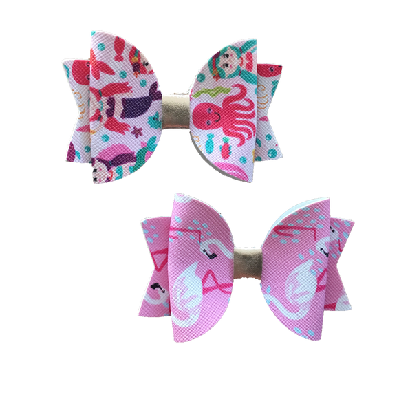 Leatherette Party Fun 2-Pack-Hair Clips-[Calgary]-[Alberta]-[Canada]-[Affordable Children's Clothing]-Stinky Bunny