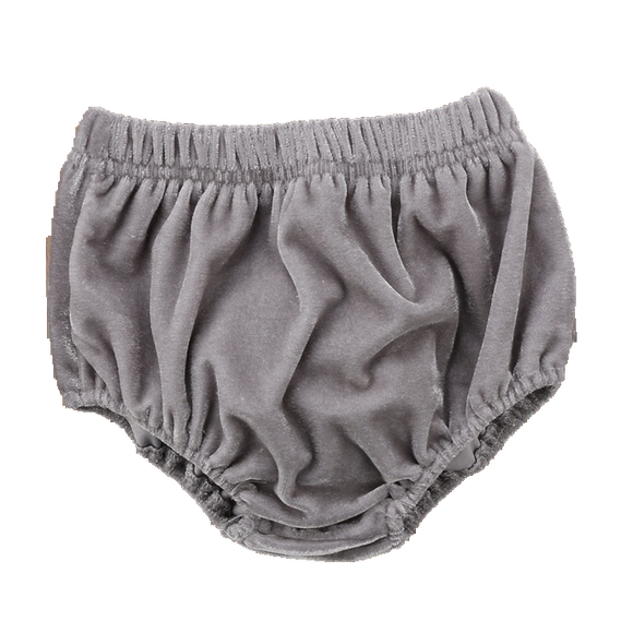 Velvet Bloomers - Silver Grey-Bloomers-[Calgary]-[Alberta]-[Canada]-[Affordable Children's Clothing]-Stinky Bunny