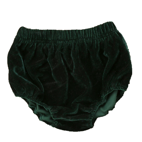 Velvet Bloomers - Forest Green-Bloomers-[Calgary]-[Alberta]-[Canada]-[Affordable Children's Clothing]-Stinky Bunny