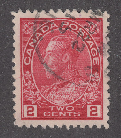 0106CA1802 - Canada #106 - Used - The King 'Spits' - Unlisted Variety?