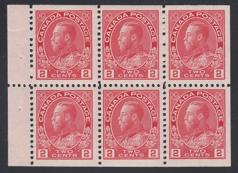 0106CA1807 - Canada #106a Mint Booklet Pane of 6