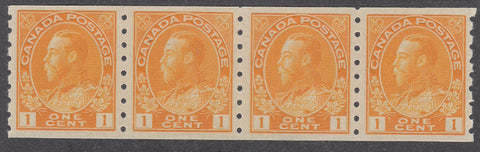 0126CA1805 - Canada #126 Coil Strip of 4