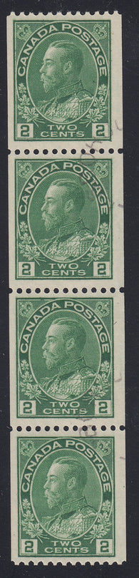 0133CA1711 - Canada #133 Used Strip of 4