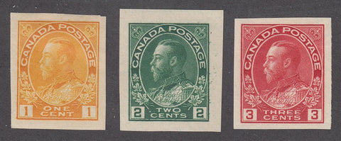 0136CA1805 - Canada #136, 137, 138 Set of Mint Imperfs