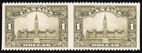 0159CA1708 - Canada #159b Horizontal Pair - Imperf Vertically