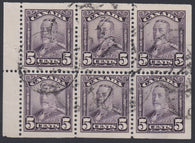 0153CA1801 - Canada #153a Used Booklet Pane of 6