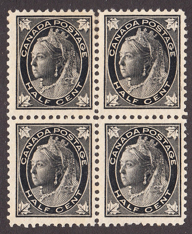 0066CA1708 - Canada #66i - Mint Major Re-Entry Block of 4