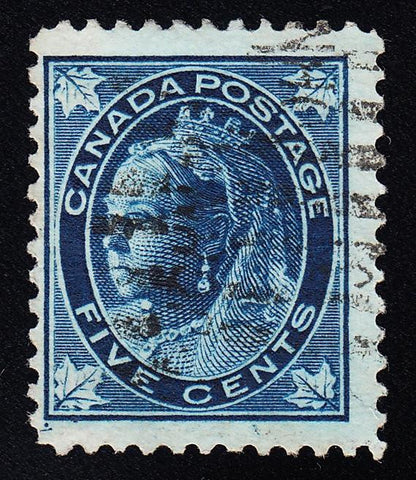 0070CA1708 - Canada #70ii - Used 'Guide Dot' and Plate Scratch