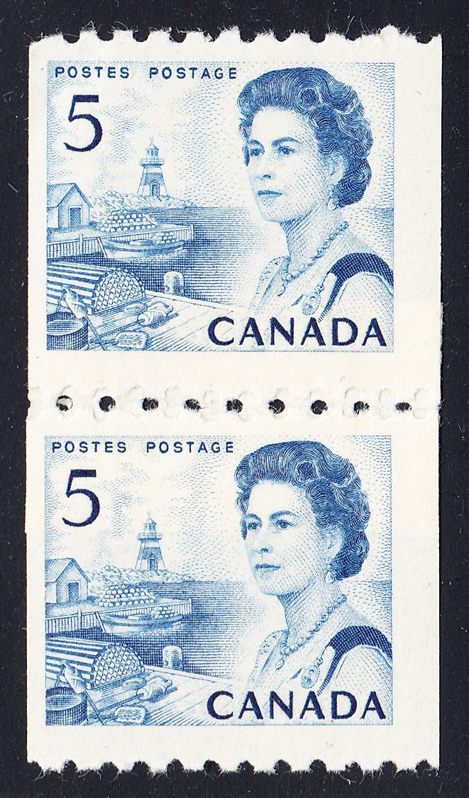 0468CA1708 - Canada #468 Repair Paste-Up Pair
