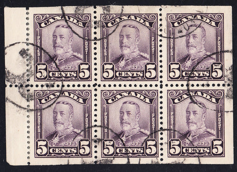 0153CA1708 - Canada #153a - Used Booklet Pane of 6