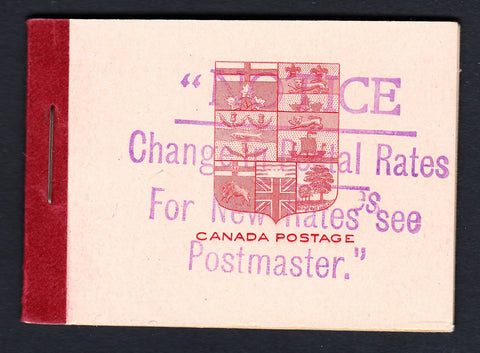 0106CA1708 - Canada BK5f - Complete Booklet