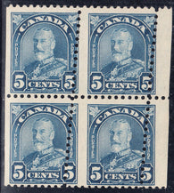 0170CA1708 - Canada #170 - Mint Block of 4, Dramatic Misperf