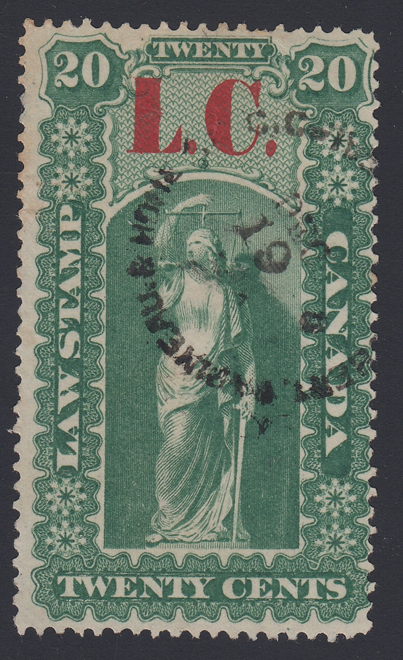 0002QL1712 - QL2a? - Used - Deveney Stamps Ltd. Canadian Stamps