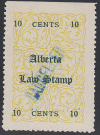 0002AL1712 - AL2b - Used Single, Double Overprint - Deveney Stamps Ltd. Canadian Stamps
