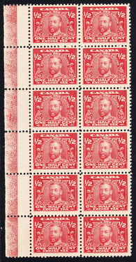 0002FX1708 - FX2 - Mint Lathework Block of 12 - Deveney Stamps Ltd. Canadian Stamps