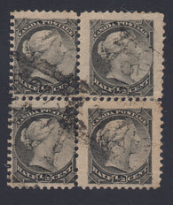 0034CA1712 - Canada #34 - Used Block of 4, Re-Entries