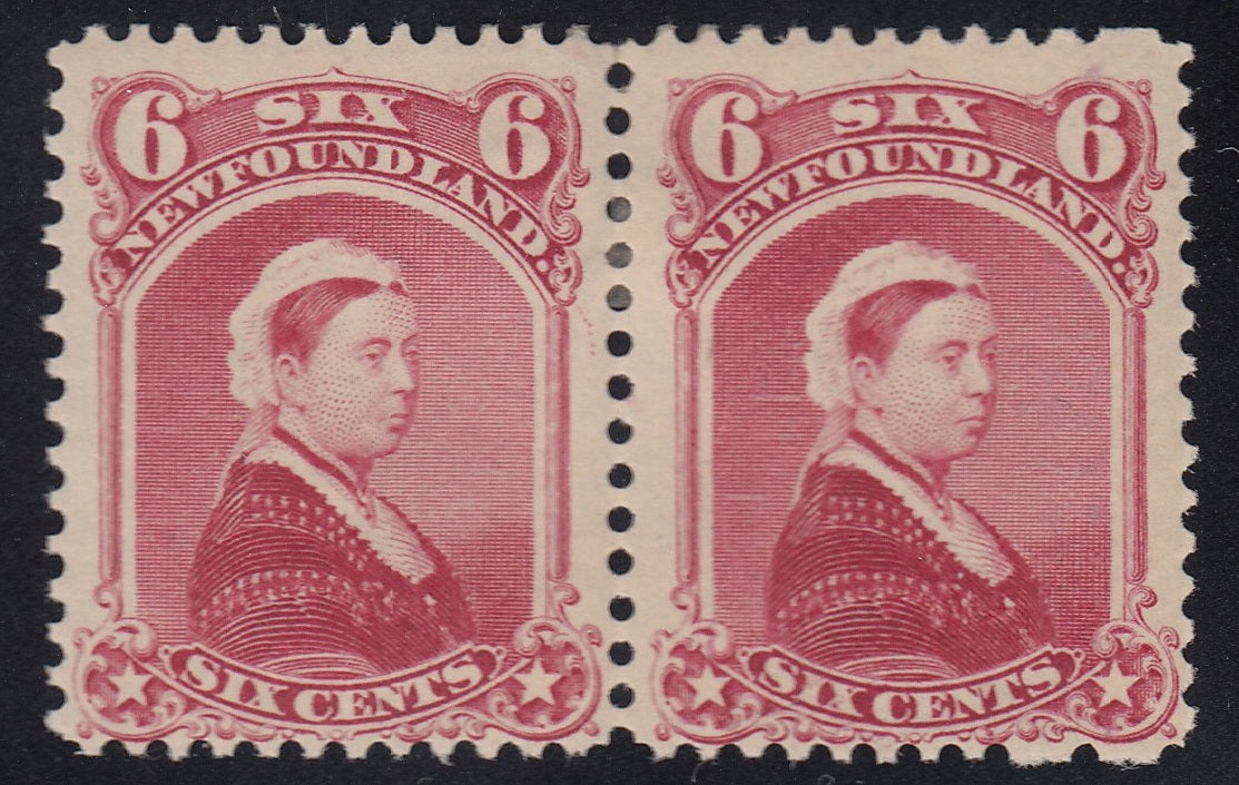 0036NF1808 - Newfoundland #36i, 36 - 'Falling Rocks' Variety, Mint Pair