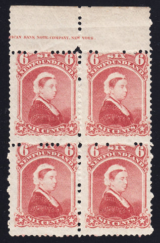 0035NF1708 - Newfoundland #35 - Mint Inscription Block of 4