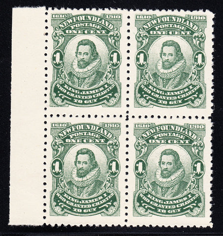 0087NF1708 - Newfoundland #87xii,ix - Mint Block of 4