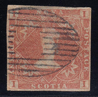0001NS1708 - Nova Scotia #1 - Used - Deveney Stamps Ltd. Canadian Stamps