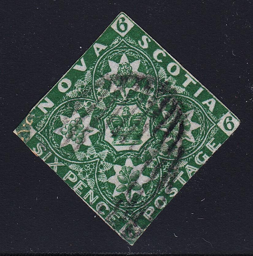 0005NS1708 - Nova Scotia #5 - Used - Deveney Stamps Ltd. Canadian Stamps