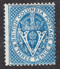0007BC1707 - British Columbia #7 - Mint - Deveney Stamps Ltd. Canadian Stamps