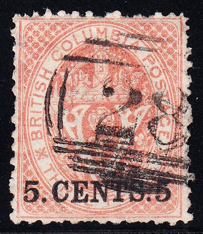 0014BC1707 - British Columbia #14 - Used Numeral Cancel '28'