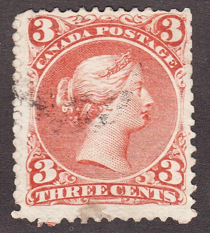 0025CA1708 - Canada #25iv - Used 'Goatee' Variety