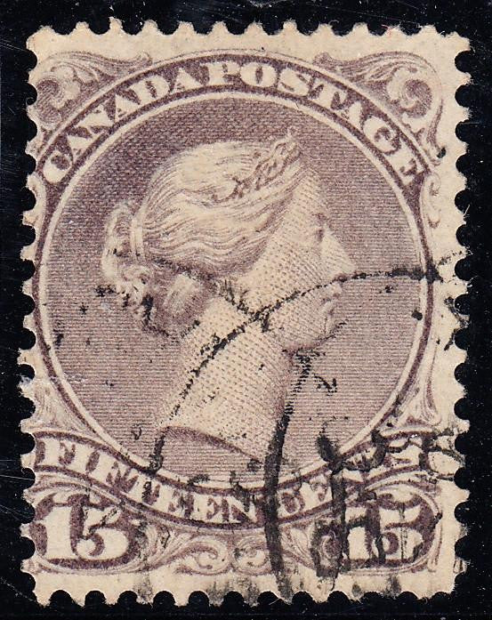 0029CA1708 - Canada #29iv - Used Cracked Plate Variety
