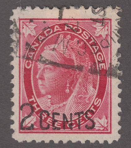 0087CA1807 - Canada #87 - Used - Unlisted Major Re-entry