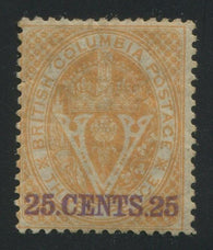 0011BC1707 - British Columbia #11 - Mint - Deveney Stamps Ltd. Canadian Stamps