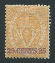 0011BC1709 - British Columbia #11 - Mint - Deveney Stamps Ltd. Canadian Stamps