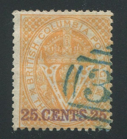 0011BC1709 - British Columbia #11 - Used - Deveney Stamps Ltd. Canadian Stamps