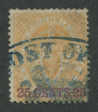 0011BC1707 - British Columbia #11 - Used - Deveney Stamps Ltd. Canadian Stamps