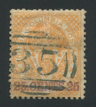 0011BC1709 - British Columbia #11 - Used Numeral Cancel '35' - Deveney Stamps Ltd. Canadian Stamps