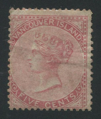 0005BC1707 - British Columbia #5 - Used - Deveney Stamps Ltd. Canadian Stamps