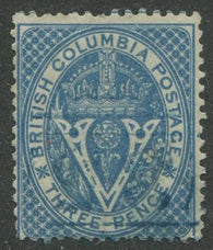 0007BC1707 - British Columbia #7 - Used Numeral Cancel '35' - Deveney Stamps Ltd. Canadian Stamps