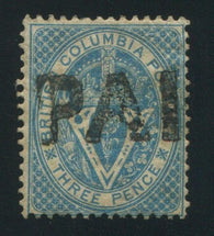 0007BC1709 - British Columbia #7 - Used - Deveney Stamps Ltd. Canadian Stamps