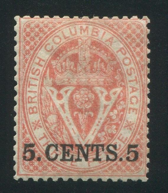 0009BC1709 - British Columbia #9 - Mint - Deveney Stamps Ltd. Canadian Stamps