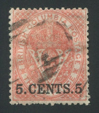 0009BC1709 - British Columbia #9 - Used - Deveney Stamps Ltd. Canadian Stamps