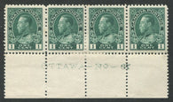 0104CA1710 - Canada #104c Plate Strip of 4