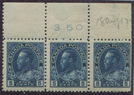 0111CA1709 - Canada #111a Plate Strip of 3